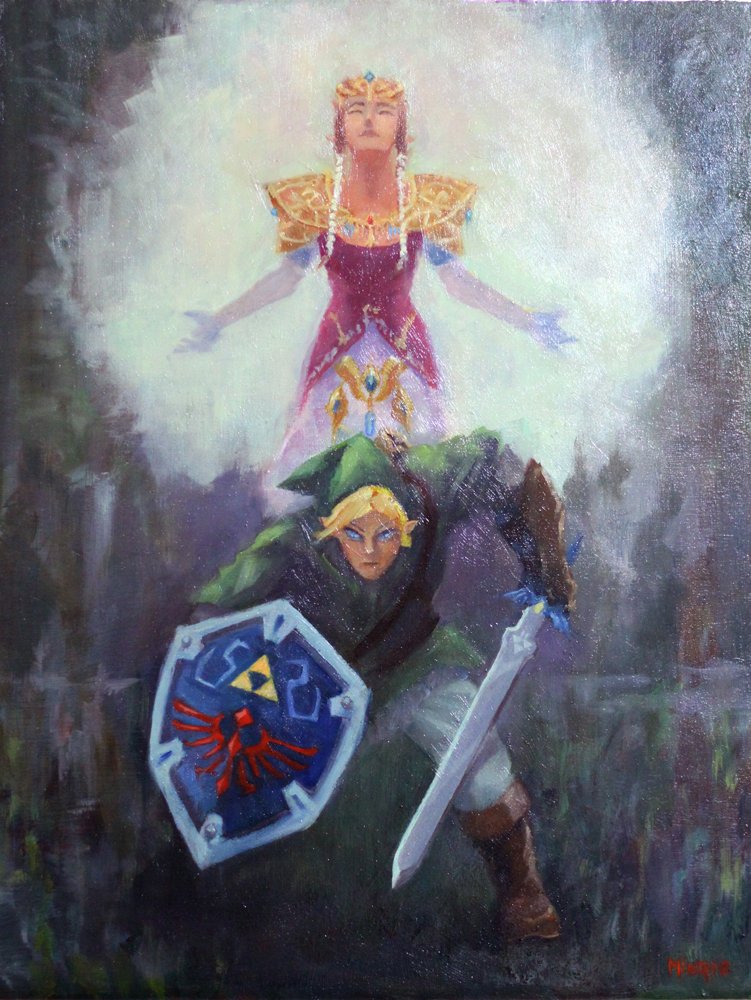 Legend of Zelda - oil on board 18